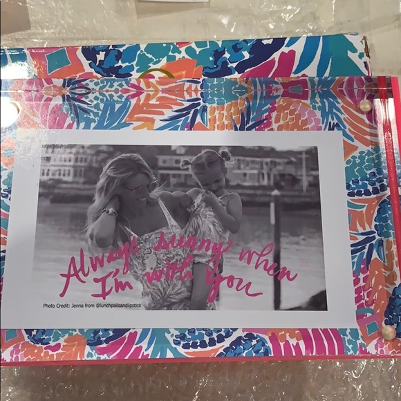Lilly Pulitzer picture frame acrylic